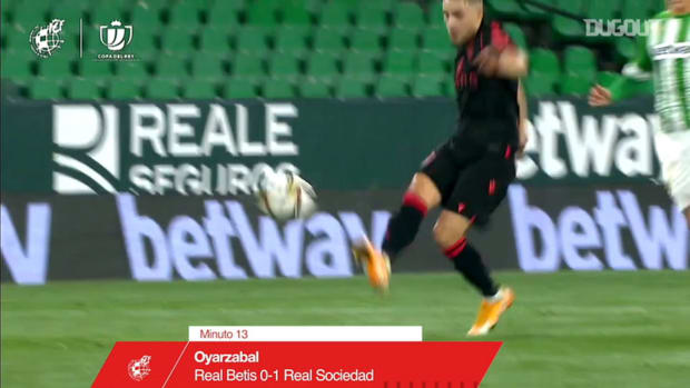 Oyarzabal's first-time finish vs Betis
