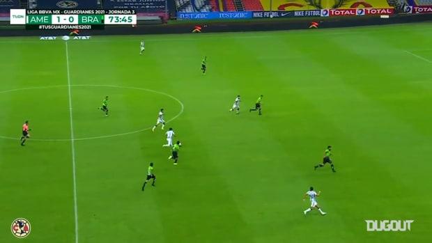 América's team move leading to Roger Martínez's goal vs FC Juárez
