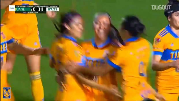 Blanca Solís's late winner for Tigres Femenil to beat Puebla