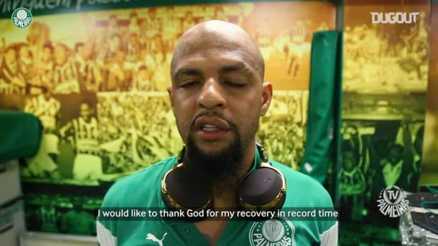 Felipe Melo on his fast recovery after break his ankle