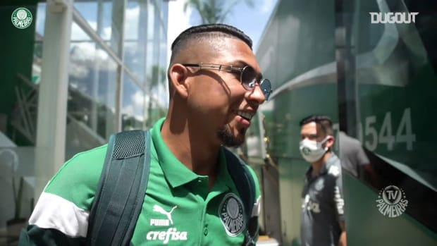 Palmeiras players travel to Rio de Janeiro for Libertadores final