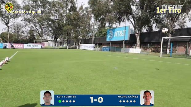 Luis Fuentes vs Mauro Lainez crossbar challenge