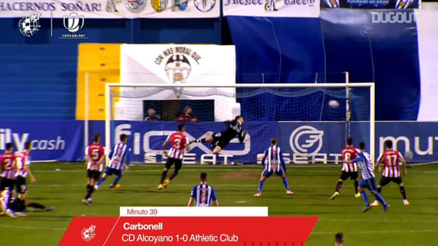 Pablo Carbonell's free-kick goal for Alcoyano vs Athletic