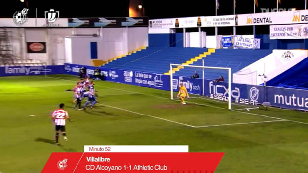 Athletic Club come back at Alcoyano with two header goals