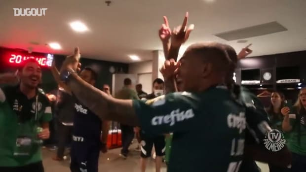 Behind the scenes of the players Palmeiras  celebrate title Libertadores