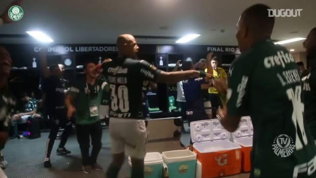 Palmeiras' dressing room celebrations after 2020 Libertadores title