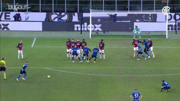 Christian Eriksen's winning free-kick against AC Milan