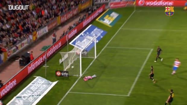 Xavi Hernández's incredible free-kick against Granada