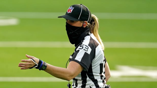 Sarah Thomas will be the first woman to referee a Super Bowl in NFL history on Feb. 7.