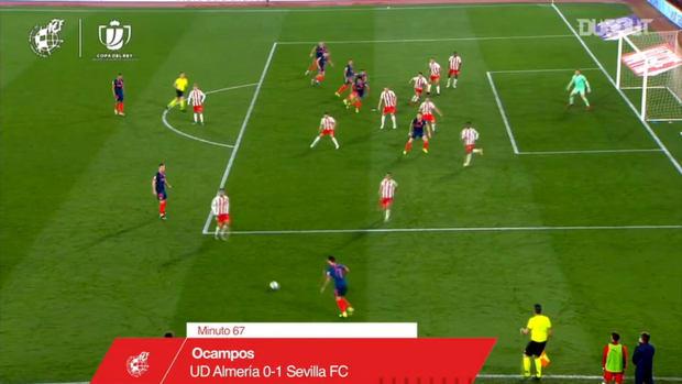 Ocampos's header goal sees Sevilla through to the semi-finals