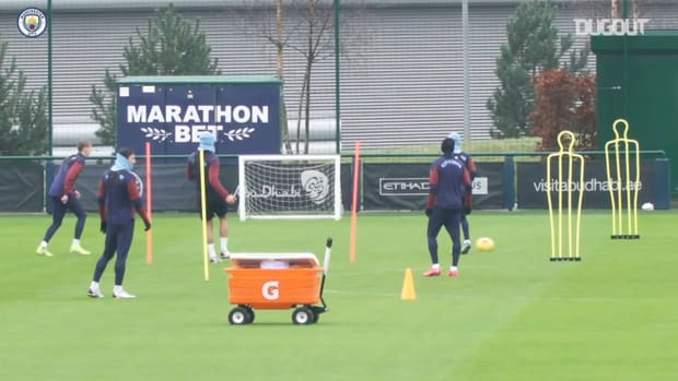 Man City stars in training ahead of Burnley clash