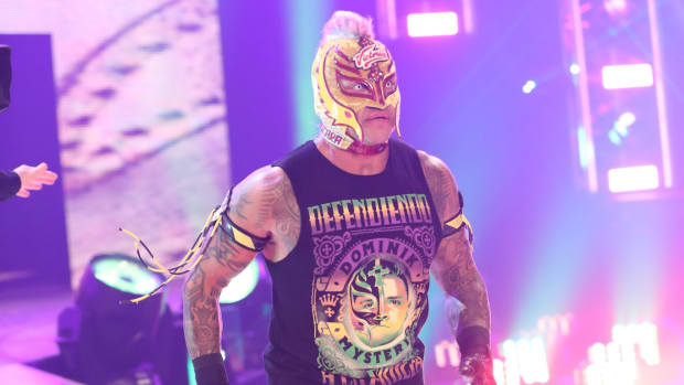 Rey Mysterio enters the 2021 Royal Rumble