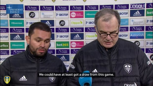 Bielsa: 'We had plenty of chances to draw or even to win'