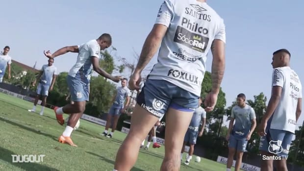 Santos training session at CT Rei Pelé