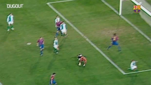 Javier Saviola hits perfect hat-trick vs Betis