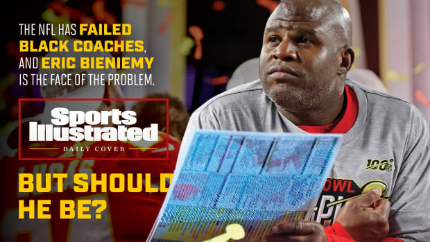 SI Daily Cover on Eric Bieniemy and the NFL's lack of Black head coaches