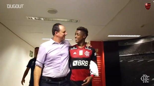 Flamengo's celebrations after beating Vasco