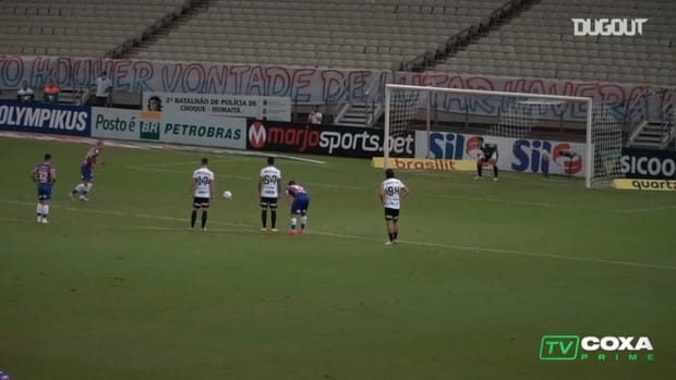 Coritiba's defender becomes goalkeeper to save a 96th minute penalty