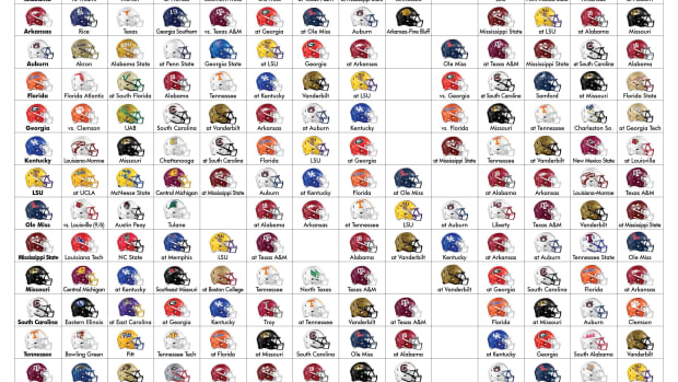 2021 SEC Football Schedule (helmet version)