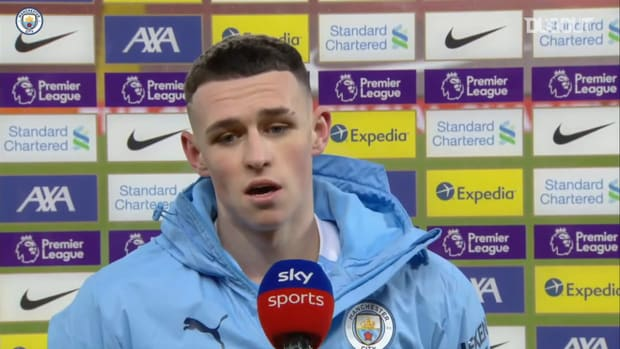 Foden reacts to man of the match performance versus Liverpool