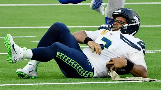 Seahawks quarterback Russell Wilson says he is frustrated with getting hit too much.