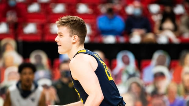 Tuesday, February 9, 2021: West Virginia guard Sean McNeil posted a career-high 26 points in the 82-71 win over Texas Tech.