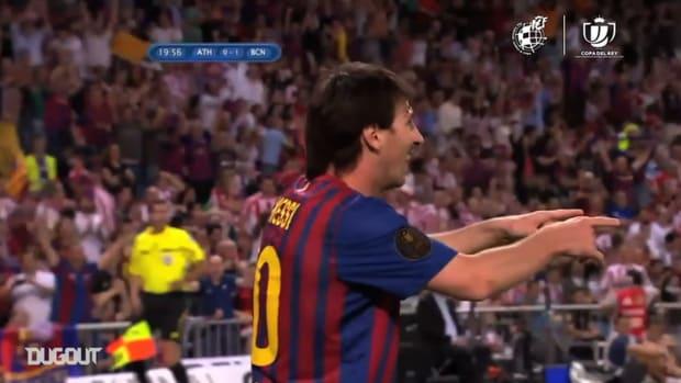 Messi, the Copa del Rey's top active goalscorer