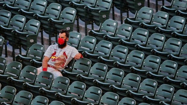 Matt Carpenter alone in the stands