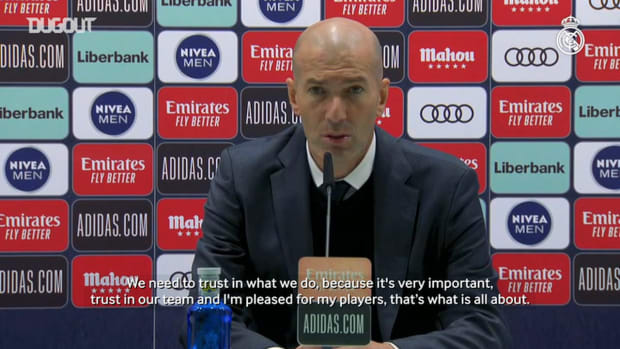 Zinedine Zidane: 'The improvement is obvious because we believe in what we're doing'