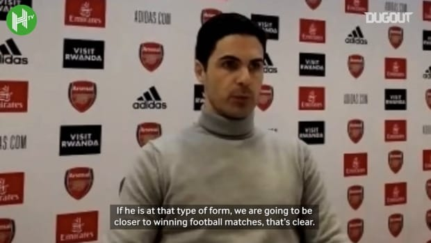 Arteta full of praise for Aubameyang after 'mad' Leeds win