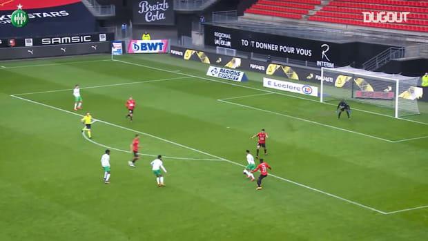 Denis Bouanga's great goal at Rennes