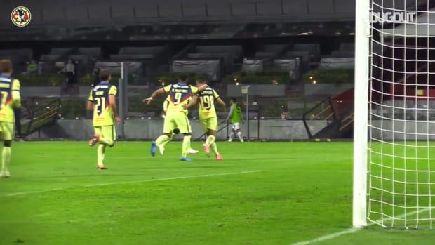 Santiago Naveda's first Club América goal