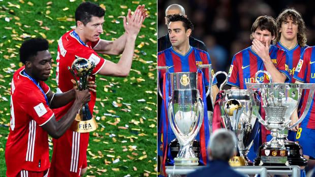 Bayern Munich and Barcelona each won the sextuple