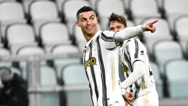 Cristiano Ronaldo celebrates after scoring