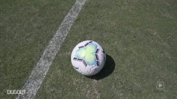 Santos's last training session before Corinthians clash