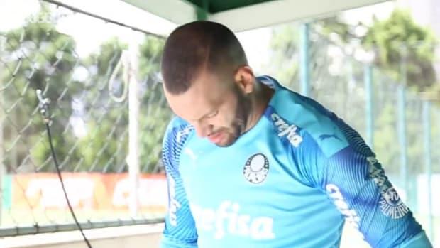 Palmeiras's last training session before Coritiba clash
