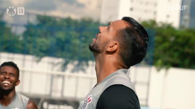 Corinthians last training session before Santos clash