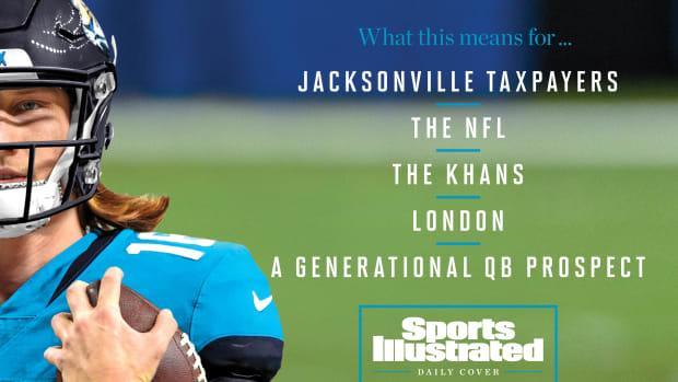 Trevor Lawrence, Jacksonville Jaguar as SI Daily Cover