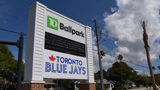 The Blue Jays will play their home games in Dunedin, Fla., to begin the 2021 season.