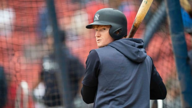 Yankees Clint Frazier at batting practice