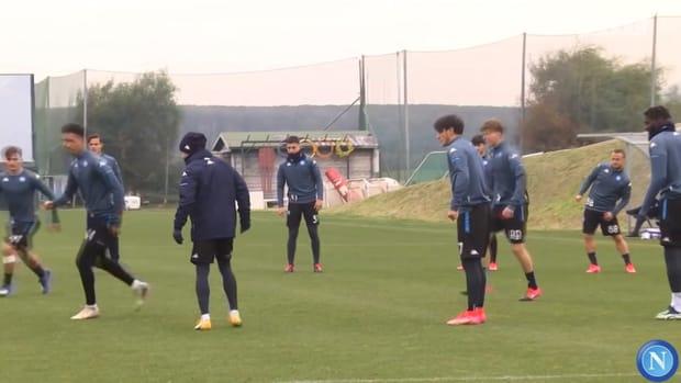 SSC Napoli's last training ahead of Granada clash
