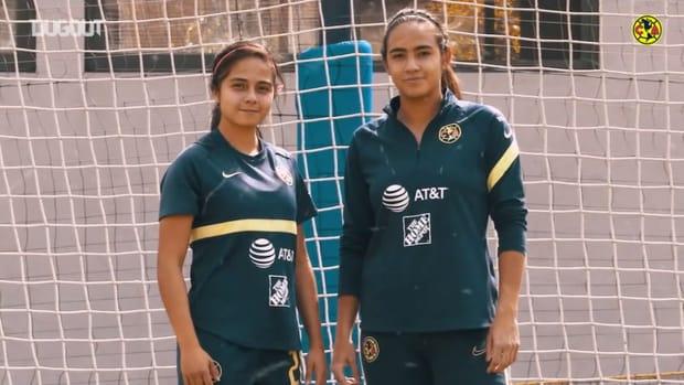 Dalia Molina and Natalia Acuña's penalty challenge