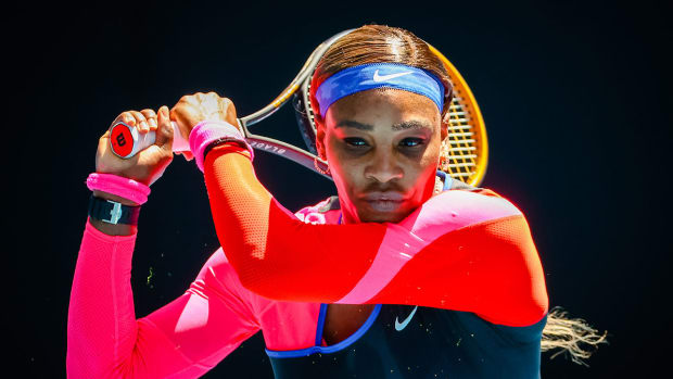 Serena Williams during the third round of the Australian Open