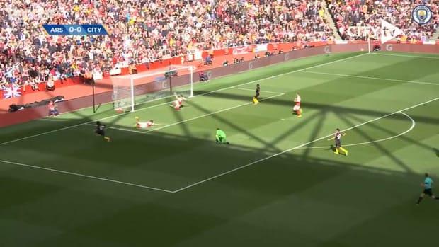 Kevin De Bruyne's outrageous assist for Sané vs Arsenal
