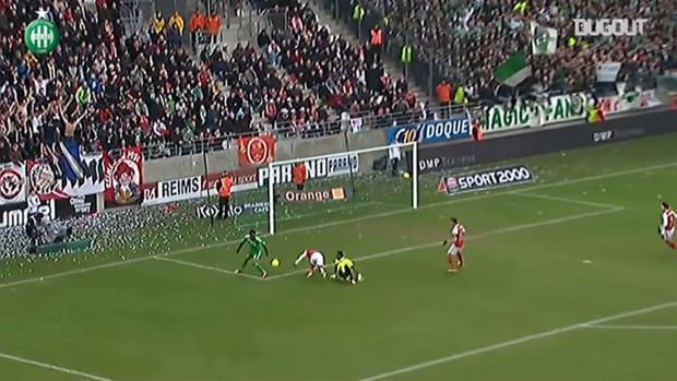 Aubameyang's lucky goal vs Reims
