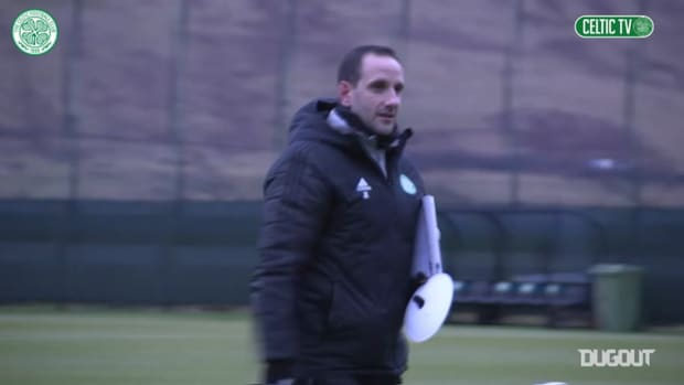 Celtic train ahead of the journey North to face Ross County