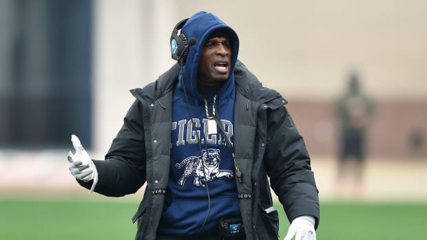 Deion Sanders at Jackson State practice