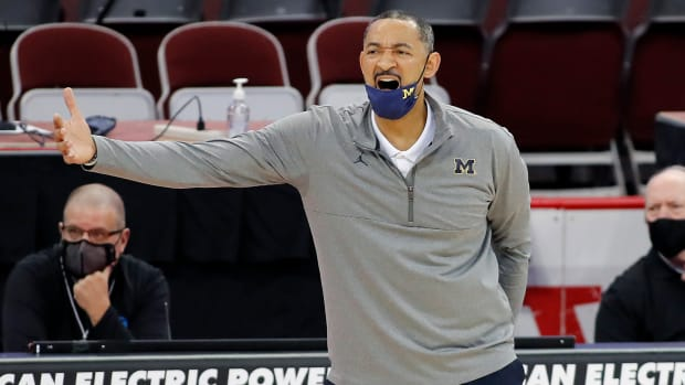 Michigan Wolverines head coach Juwan Howard during the first half against the Ohio State Buckeyes at Value City Arena.