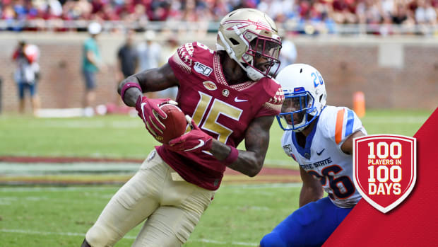 Aug 31, 2019; Tallahassee, FL, USA; Florida State Seminoles wide receiver Tamorrion Terry (15) catches a ball past Boise State Broncos cornerback Avery Williams (26) during the second half at Doak Campbell Stadium. Mandatory Credit: Melina Myers-USA TODAY Sports