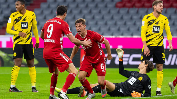 Bayern Munich star Joshua Kimmich scores vs. Dortmund